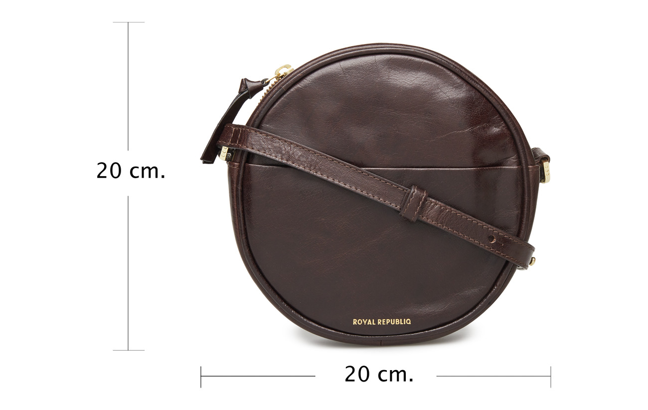 Cuir Republiq Intérieure Royal Evening Bag Round Doublure Polycotton Équipement 100 Brown OqHq1g