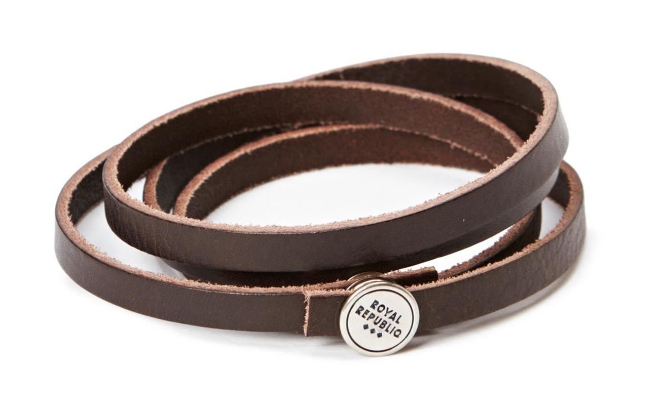 Royal RepubliQ Spiral Bracelet - DARK BROWN