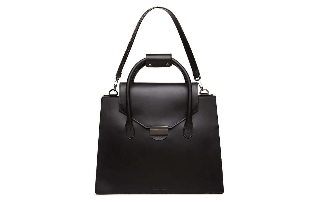 Republiq New Extérieure Cuir Inner Coquille Shopper Royal Polycotton Conductor Black qafxw6adp