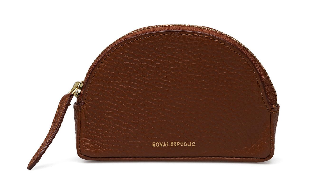 Cognac Cuir Alpha Purse Doublure Coin Équipement Republiq Royal Curve Intérieure Polyester 100 IxCw5XUq