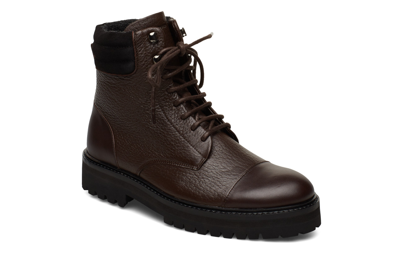 Royal RepubliQ Ave Hiker Combat Boot - CHESTNUT
