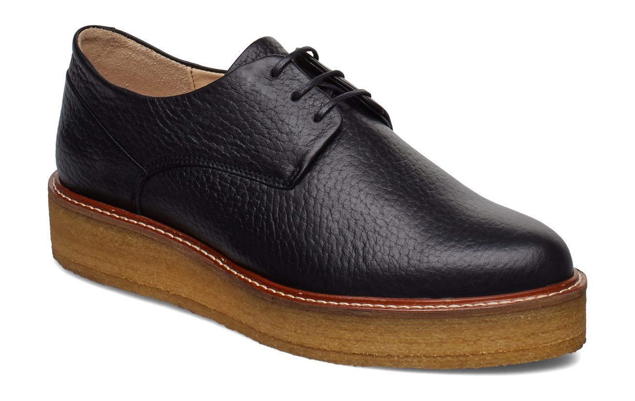 Royal RepubliQ Border Crepe Derby Shoe - BLACK