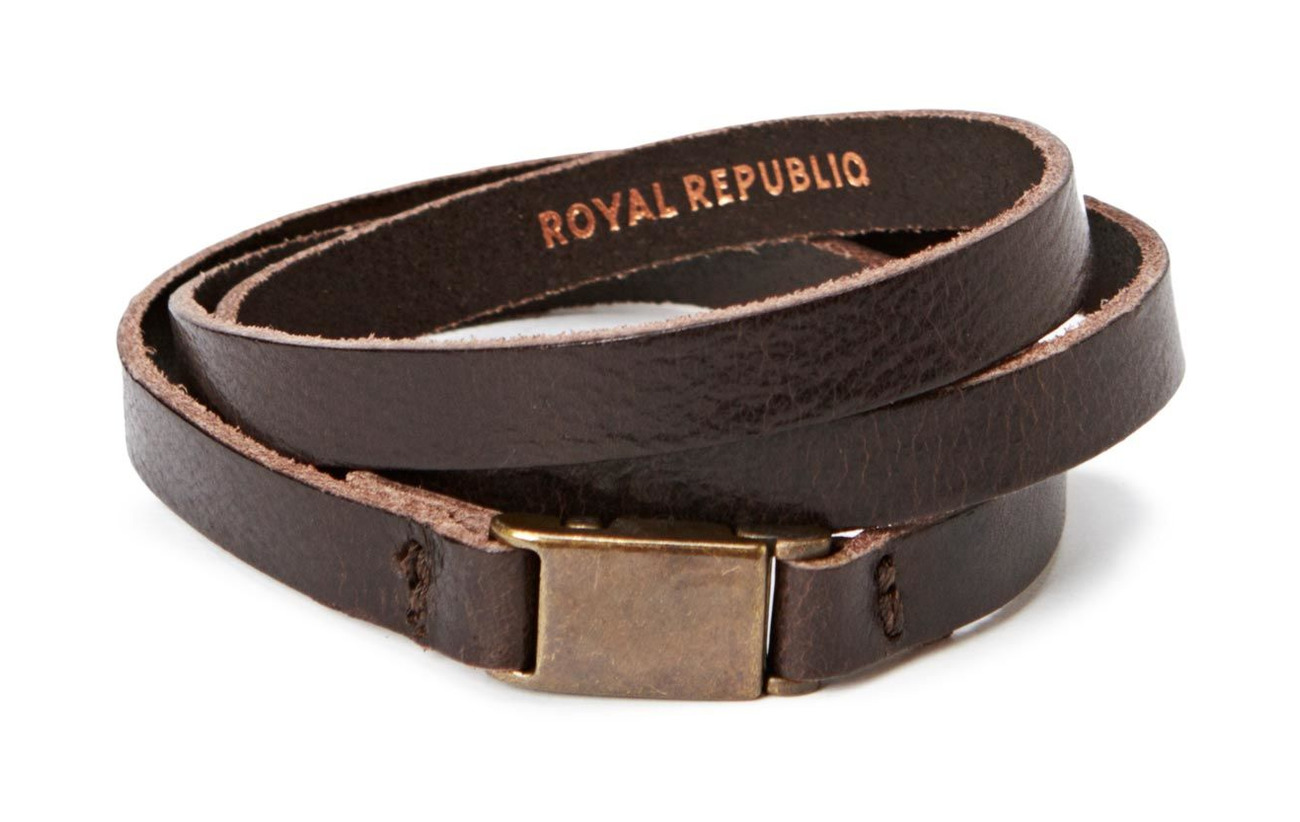 Royal RepubliQ Clip bracelet/cuff - DARK BROWN