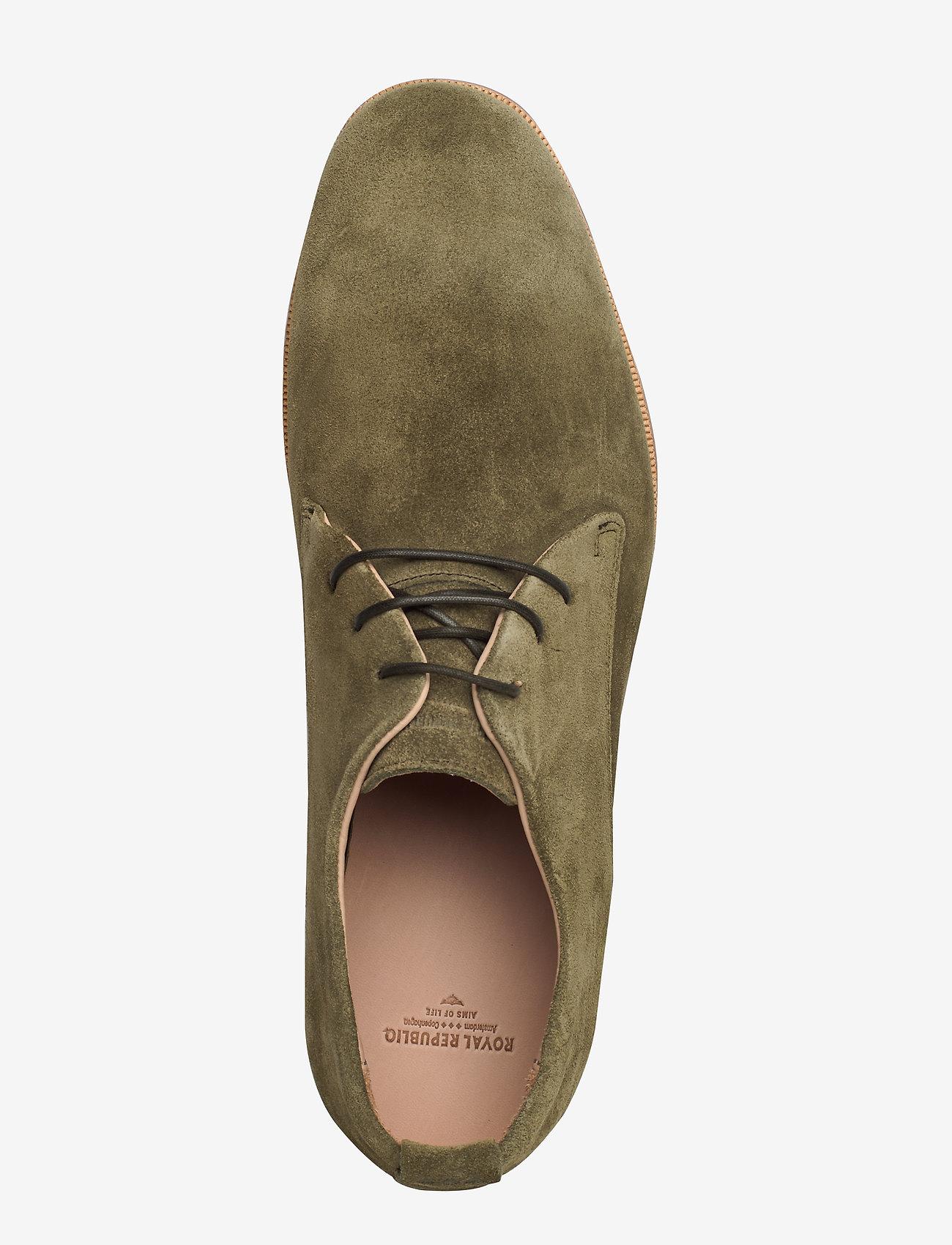 Royal RepubliQ Evo Suede Derby Shoe - Business OLIVE - Schuhe Billige