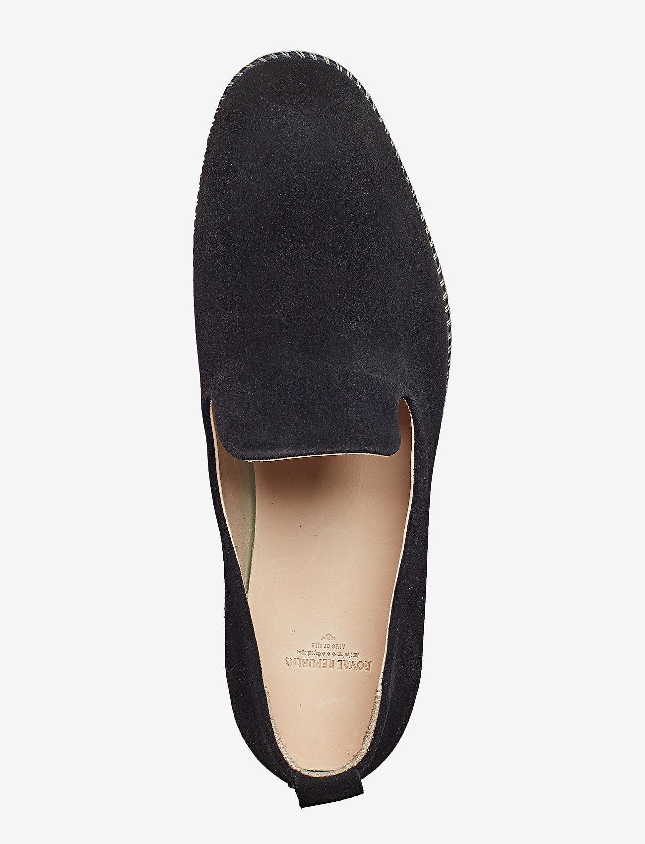 Royal RepubliQ Evo Loafer Suede - Loafers BLACK - Schuhe Billige