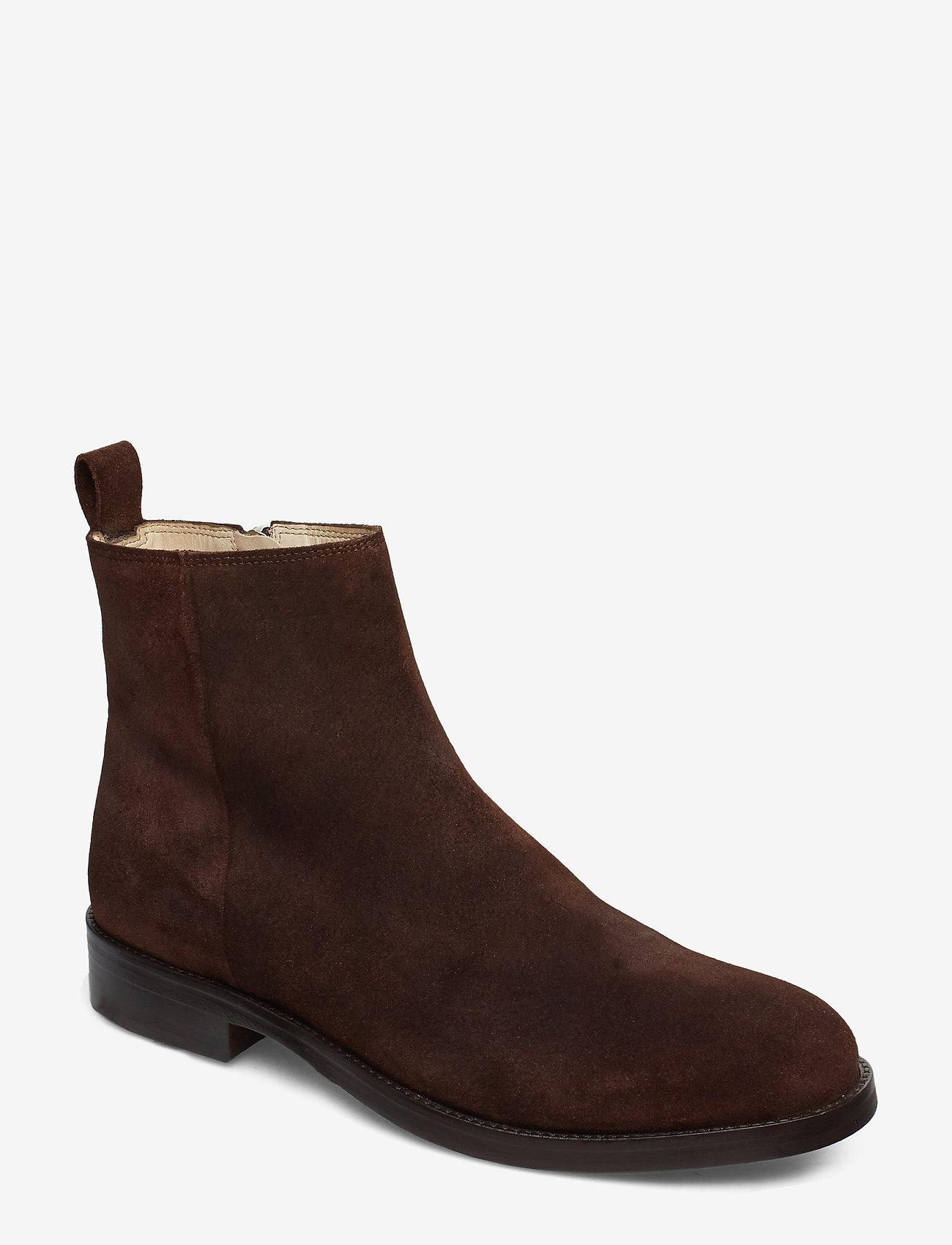 Royal RepubliQ - Bond Ankle Boot Suede - nilkkurit - coffee