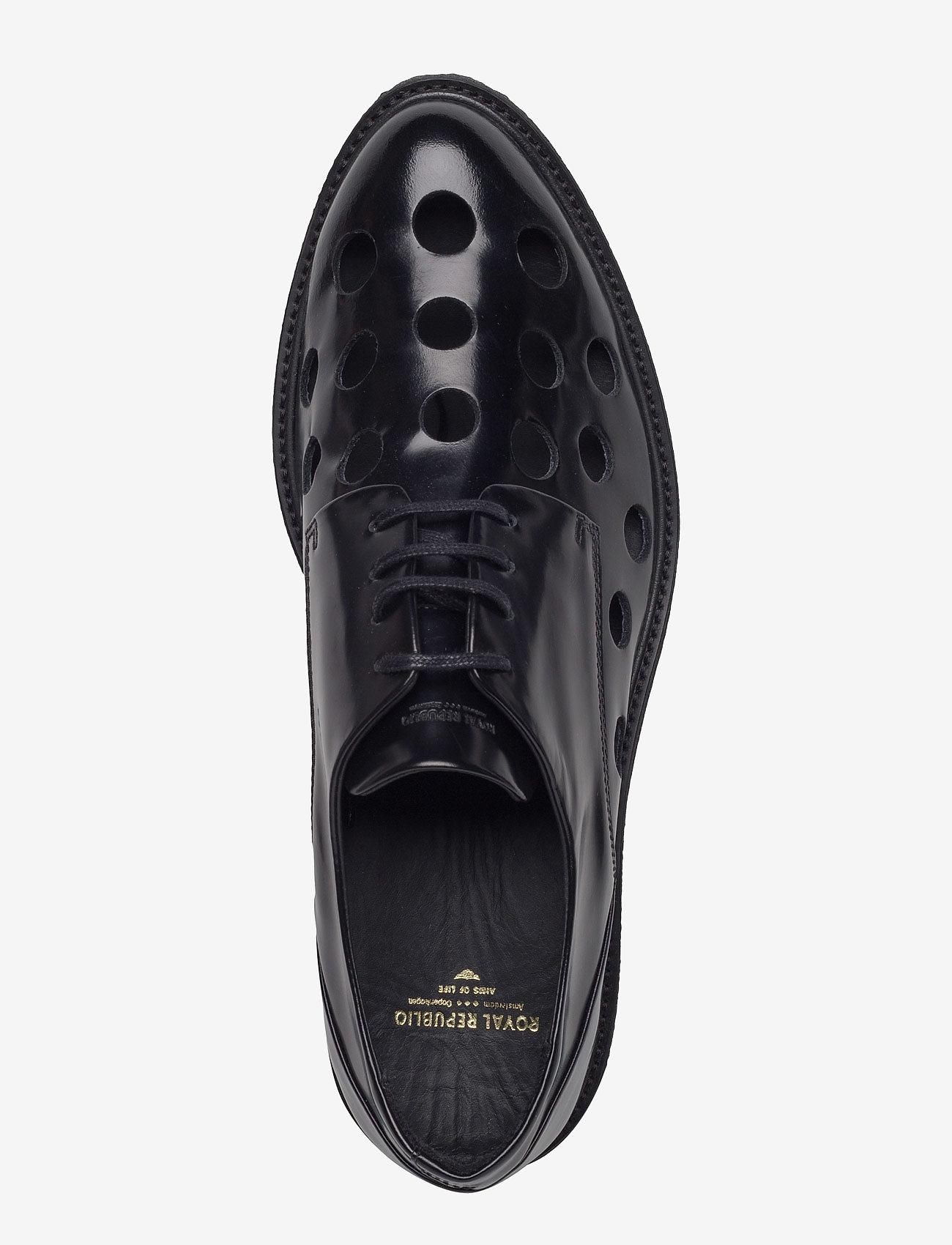 Border Creep Punched Shoe (Black) - Royal RepubliQ