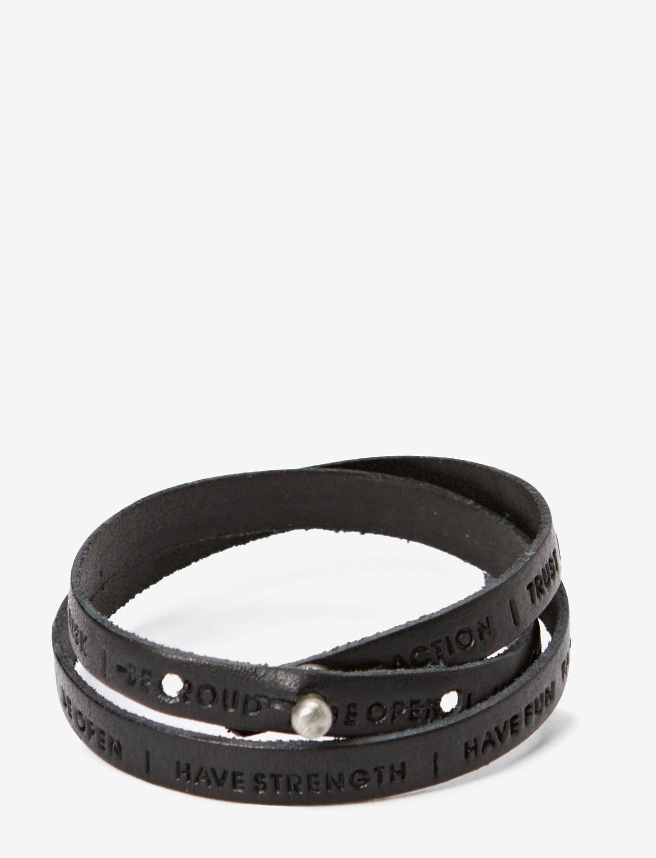 Royal RepubliQ - Philosophy Bracelet - bangles - black - 0
