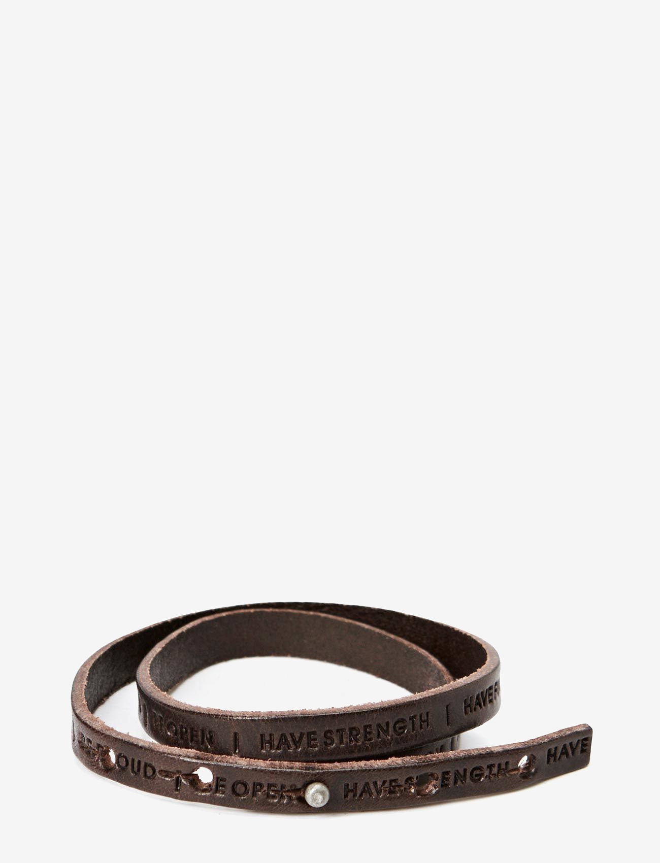 Royal RepubliQ - Philosophy Bracelet - bangles - dark brown - 0