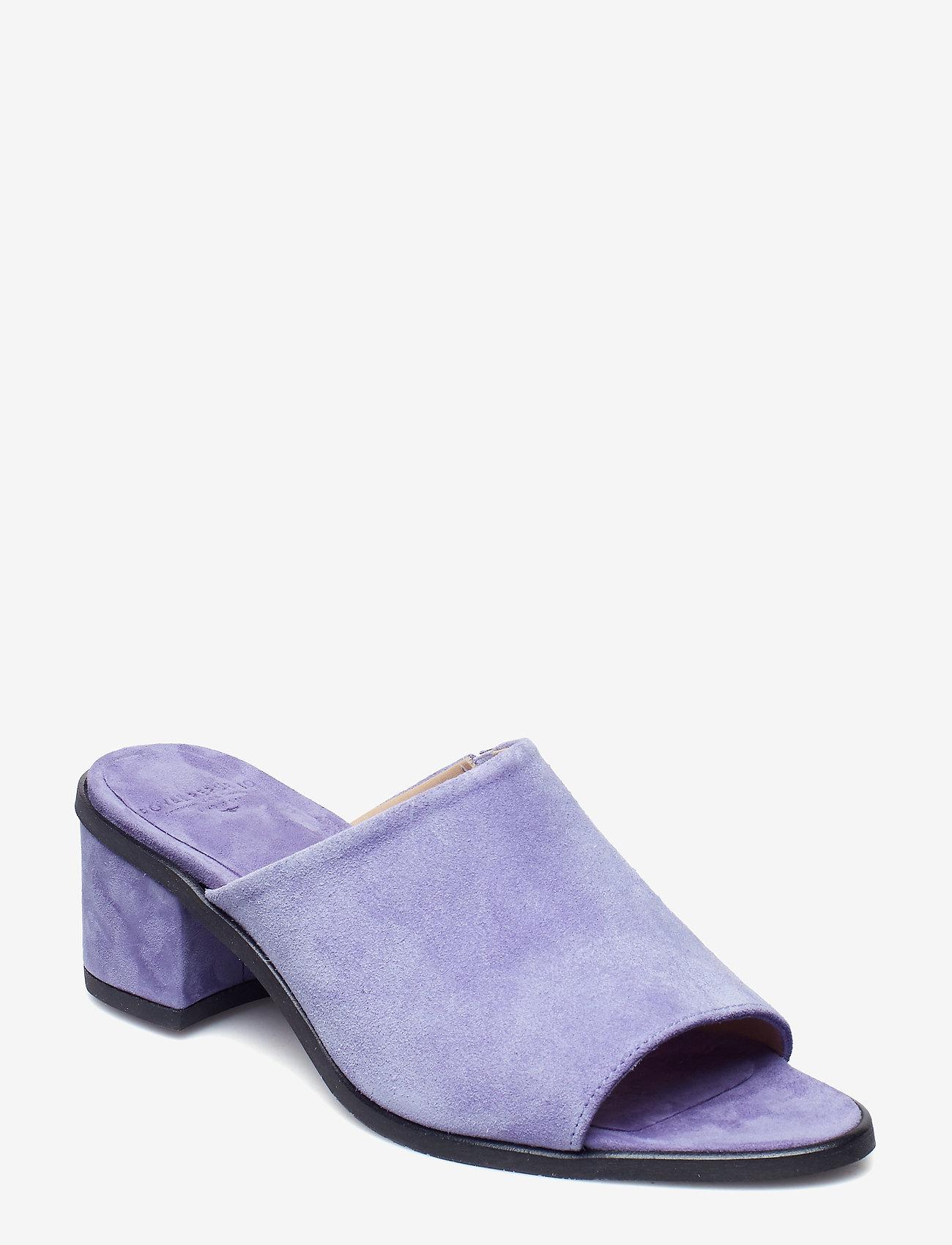 Royal RepubliQ - Town Mule Suede - heeled sandals - purple - 0