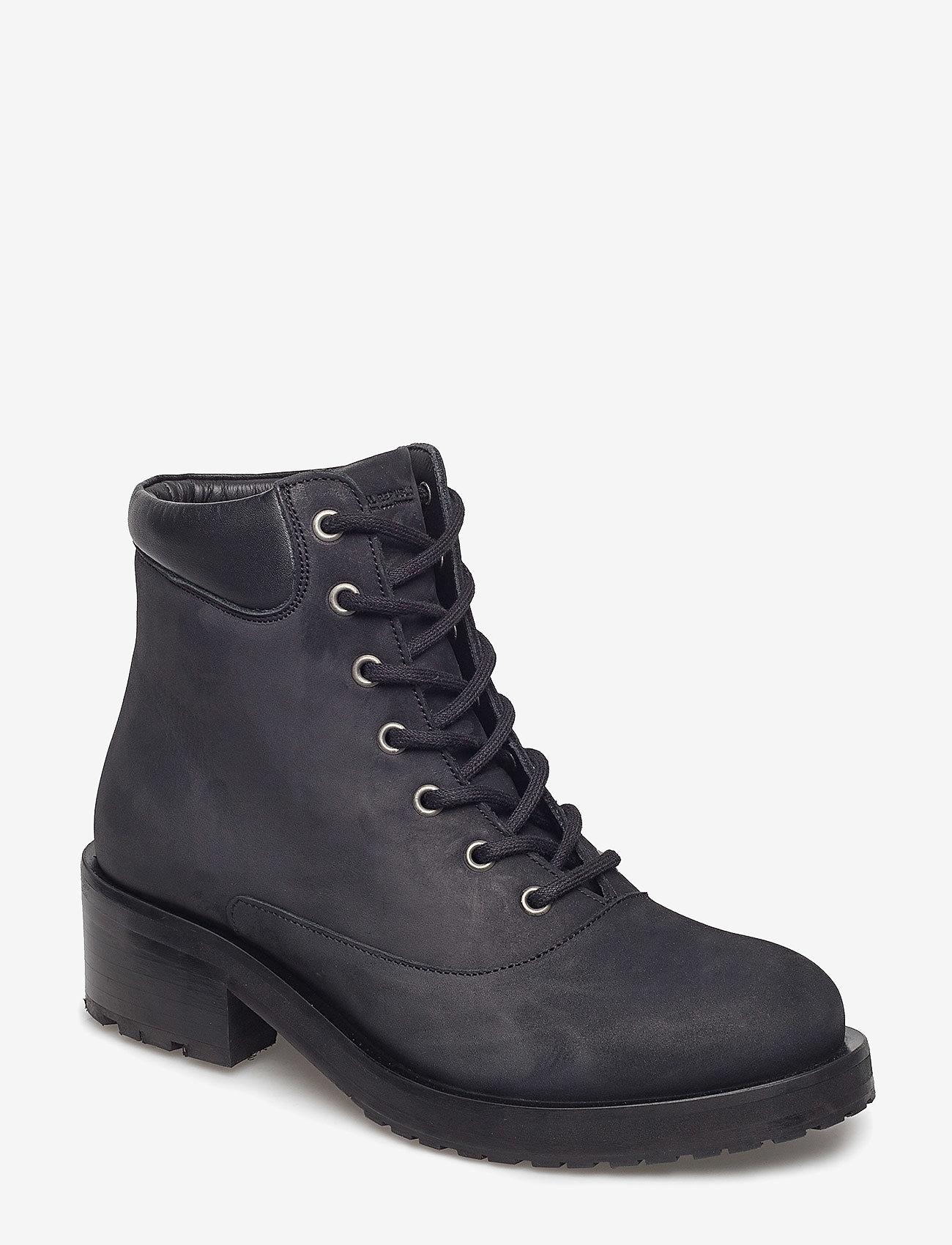 Royal RepubliQ - District Hiker Oxford Midcut - flade ankelstøvler - black - 0