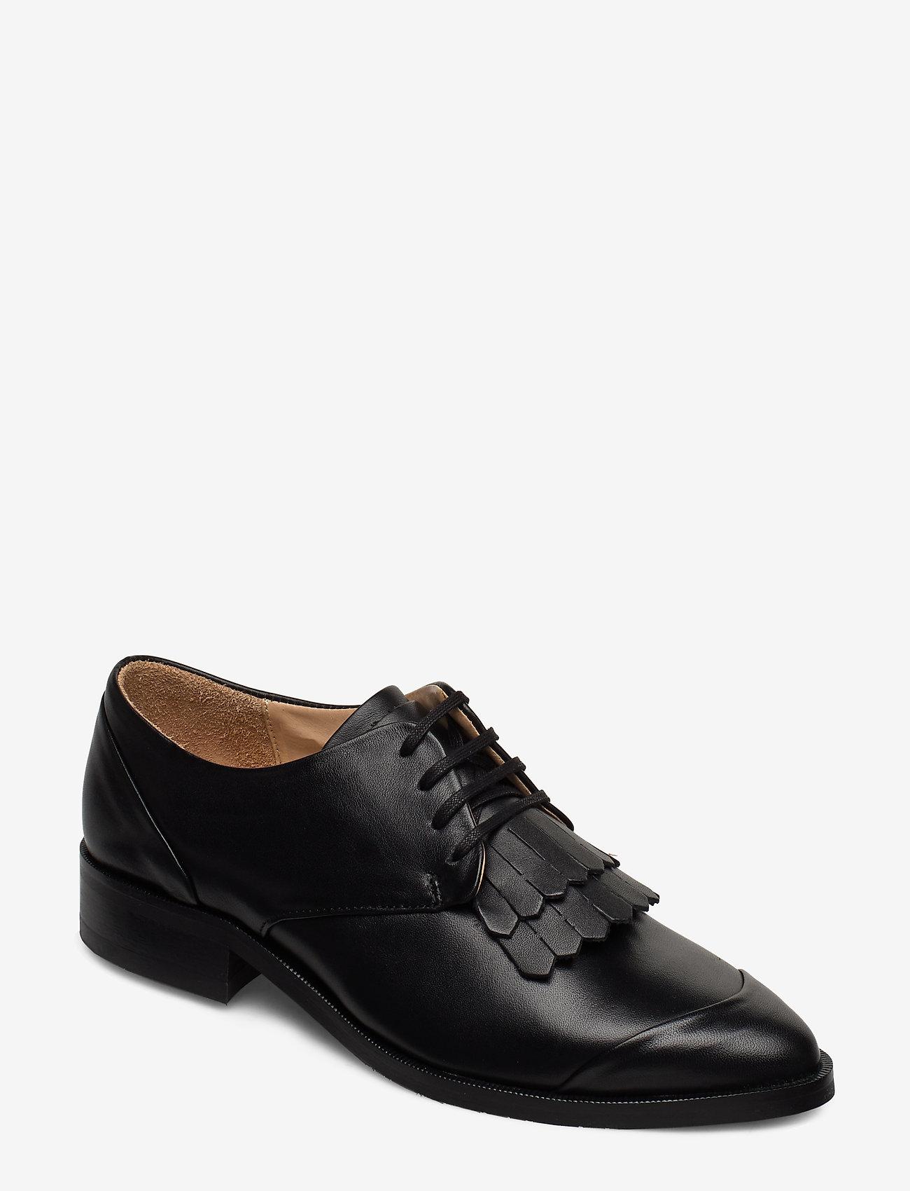 Royal RepubliQ - Prime Fringe Shoe - buty sznurowane - black - 0