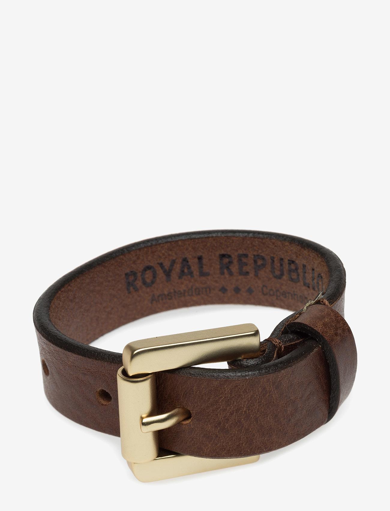 Royal RepubliQ - COIL BRACELET - CLASSIC - jewellery - cognac - 0