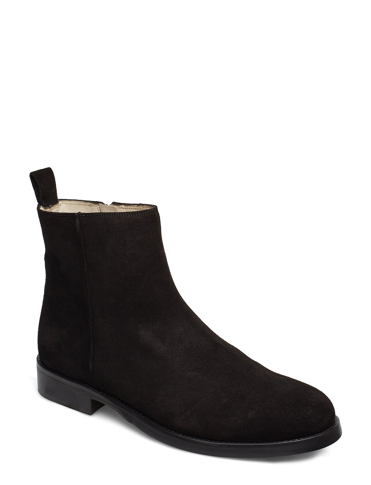 Image of Bond Ankle Boot Suede Støvlet Chelsea Boot Sort Royal RepubliQ (3210235039)
