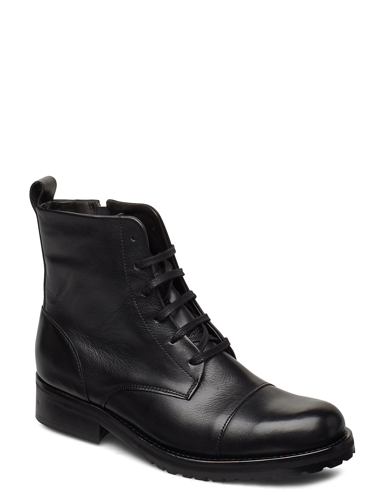 Image of Ave Lace Up Boot - Black Shoes Boots Ankle Boots Ankle Boot - Flat Sort Royal RepubliQ (3429250223)