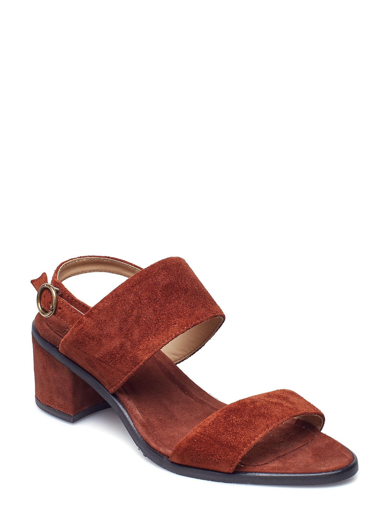 Image of Town Strap Sandal Suede Sandal Med Hæl Rød Royal RepubliQ (3115787453)