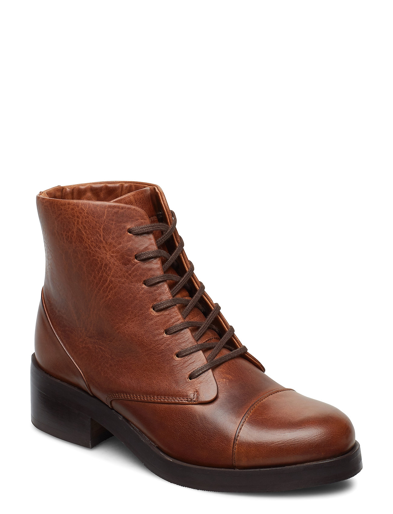 Image of District Lace Up Boot Shoes Boots Ankle Boots Ankle Boot - Heel Brun Royal RepubliQ (3433794275)