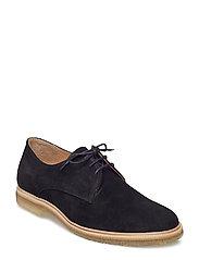 Cast Crepe Derby Shoe Suede - BLACK