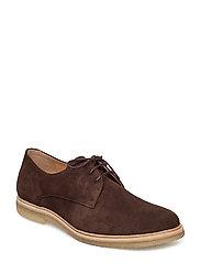 Cast Crepe Derby Shoe Suede - BROWN