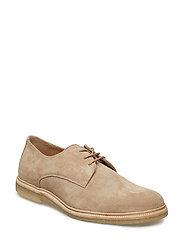 Cast Crepe Derby Shoe Suede - CAMEL