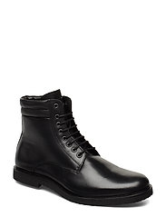Cast Crepe Combat Boot - BLACK