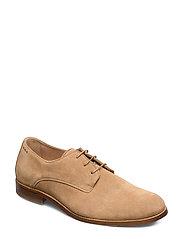 Alias Classic Suede Derby Shoe - CAMEL