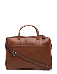 Explorer laptop bag single - COGNAC