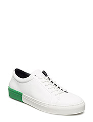 SPARTACUS IMPACT SHOE - WHITE + GREEN  ACCENT