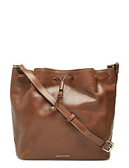 BUCKET HANDBAG - HAZEL BROWN