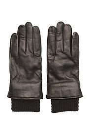 Ground Glove Short W/Wool Rib Men - BLACK