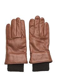 Ground Glove Short W/Wool Rib Men - TAN