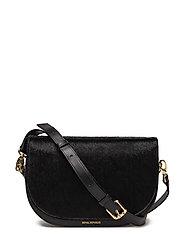 Raf Curve Handbag Pony - BLACK