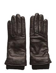 Ground Glove Short W/Wool Rib Wmn - BLACK