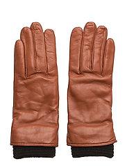 Ground Glove Short W/Wool Rib Wmn - TAN