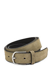 Allure Suede Belt - OLIVE