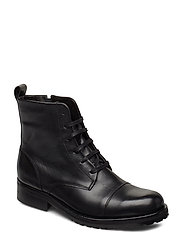 Ave Lace Up Boot - Black - BLACK