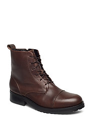 Ave Lace Up Boot - BROWN