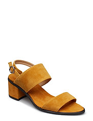 Town Strap Sandal Suede - YELLOW