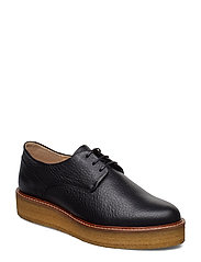 Border Crepe Derby Shoe - BLACK