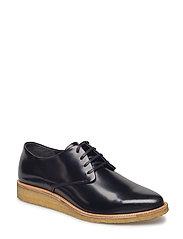 Prime Crepe Derby Shoe - BLACK
