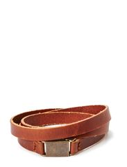 Clip bracelet/cuff - COGNAC