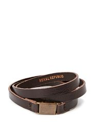 Clip bracelet/cuff - DARK BROWN