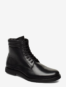 Cast Crepe Combat Boot - bottes lacées - black
