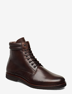 Cast Crepe Combat Boot - CHESTNUT