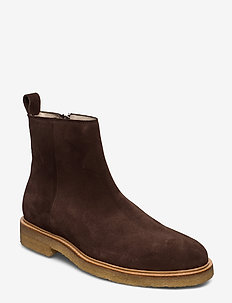 Bond Crepe Suede Ankle Boot - BROWN