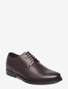 Nano Derby Shoe - laced shoes - brown