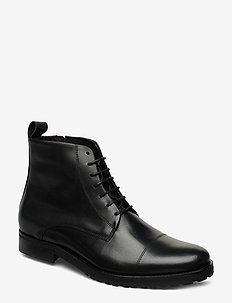 Nano Lace Up Boot - BLACK