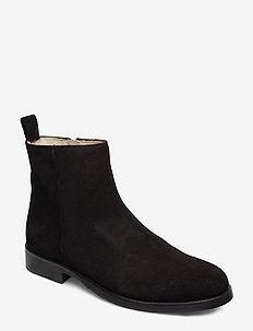 Bond Ankle Boot Suede - nilkkurit - black