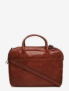 Explorer laptop bag double - tietokonelaukut - cognac