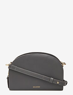 GALAX CURVE EVENING BAG - olkalaukut - anthracite